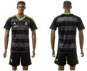 Wholesale Cheap Wales Blank Black Away Soccer Country Jersey
