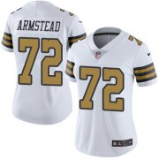 Wholesale Cheap Nike Saints #72 Terron Armstead White Women's Stitched NFL Limited Rush Jersey