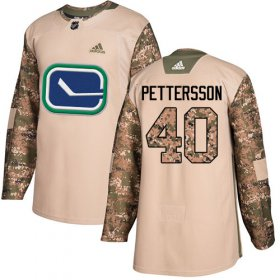 Wholesale Cheap Adidas Canucks #40 Elias Pettersson Camo Authentic 2017 Veterans Day Youth Stitched NHL Jersey