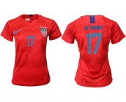 Wholesale Cheap Women's USA #17 Altidore Away Soccer Country Jersey