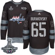 Wholesale Cheap Adidas Capitals #65 Andre Burakovsky Black 1917-2017 100th Anniversary Stanley Cup Final Champions Stitched NHL Jersey