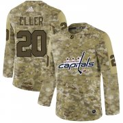 Wholesale Cheap Adidas Capitals #20 Lars Eller Camo Authentic Stitched NHL Jersey