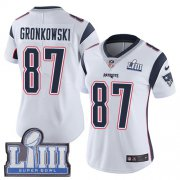 Wholesale Cheap Nike Patriots #87 Rob Gronkowski White Super Bowl LIII Bound Women's Stitched NFL Vapor Untouchable Limited Jersey