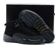 Wholesale Cheap Air Jordan 12 Black OVO All black