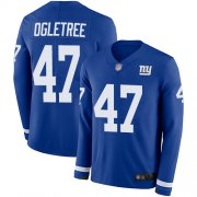 Wholesale Cheap Nike Giants #47 Alec Ogletree Royal Blue Team Color Men's Stitched NFL Limited Therma Long Sleeve Jersey