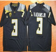 Wholesale Cheap Oregon Duck #3 Vernon Adams Jr Black College Football Nike Limited Jersey