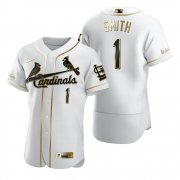 Wholesale Cheap St. Louis Cardinals #1 Ozzie Smith White Nike Men's Authentic Golden Edition MLB Jersey
