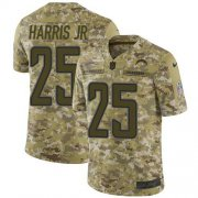 Wholesale Cheap Nike Chargers #25 Chris Harris Jr Camo Youth Stitched NFL Limited 2018 Salute To Service Jersey