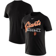 Wholesale Cheap San Francisco Giants Nike Wordmark Practice Performance T-Shirt Black