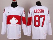 Wholesale Cheap Team Canada 2014 Olympic #87 Sidney Crosby White Stitched Youth NHL Jersey