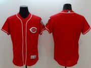 Wholesale Cheap Reds Blank Red Flexbase Authentic Collection Stitched MLB Jersey