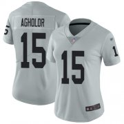 Wholesale Cheap Nike Raiders #15 Nelson Agholor Silver Women's Stitched NFL Limited Inverted Legend Jersey