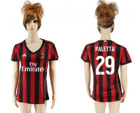Wholesale Cheap Women\'s AC Milan #29 Paletta Home Soccer Club Jersey