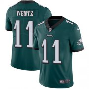 Wholesale Cheap Nike Eagles #11 Carson Wentz Midnight Green Team Color Men's Stitched NFL Vapor Untouchable Limited Jersey
