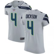 Wholesale Cheap Nike Seahawks #4 Michael Dickson Grey Alternate Men's Stitched NFL Vapor Untouchable Elite Jersey