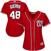Wholesale Cheap Nationals #48 Javy Guerra Red Alternate Women's Stitched MLB Jersey