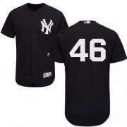 Wholesale Cheap Yankees #46 Andy Pettitte Navy Blue Flexbase Authentic Collection Stitched MLB Jersey