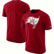 Wholesale Cheap Men's Tampa Bay Buccaneers Nike Red Sideline Cotton Slub Performance T-Shirt