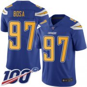 Wholesale Cheap Nike Chargers #97 Joey Bosa Electric Blue Men's Stitched NFL Limited Rush 100th Season Jersey