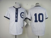 Wholesale Cheap Cubs #10 Ron Santo White 1909 Turn Back The Clock Stitched MLB Jersey