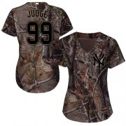 Wholesale Cheap Yankees #99 Aaron Judge Camo Realtree Collection Cool Base Women's Stitched MLB Jersey