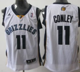 Wholesale Cheap Memphis Grizzlies #11 Mike Conley White Swingman Jersey