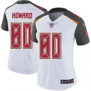 Wholesale Cheap Nike Buccaneers #80 O. J. Howard White Women's Stitched NFL Vapor Untouchable Limited Jersey