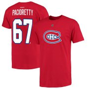 Wholesale Cheap Montreal Canadiens #67 Max Pacioretty Reebok Name and Number Player T-Shirt Red