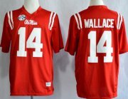 Wholesale Cheap Ole Miss Rebels #14 Bo Wallace 2013 Red Jersey
