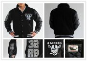 Wholesale Cheap Mitchell And Ness NFL Las Vegas Raiders #32 Marcus Allen Authentic Wool Jacket