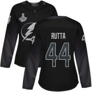 Cheap Adidas Lightning #44 Jan Rutta Black Alternate Authentic Women's 2020 Stanley Cup Champions Stitched NHL Jersey