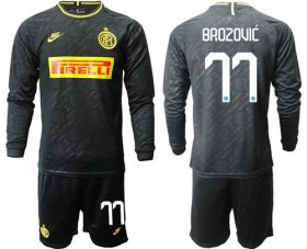 Wholesale Cheap Inter Milan #77 Brozovic Third Long Sleeves Soccer Club Jersey