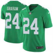 Wholesale Cheap Nike Eagles #24 Corey Graham Green Men's Stitched NFL Limited Rush Jersey