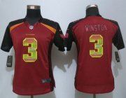 Wholesale Cheap Nike Buccaneers #3 Jameis Winston Red Team Color Women's Stitched NFL Elite Strobe Jersey