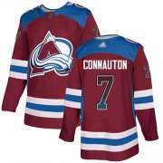 Wholesale Cheap Adidas Avalanche #7 Kevin Connauton Burgundy Home Authentic Drift Fashion Stitched NHL Jersey