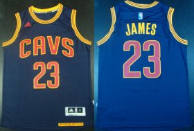 Wholesale Cheap Cleveland Cavaliers #23 LeBron James Revolution 30 Swingman 2014 New Navy Blue Jersey