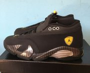 Wholesale Cheap Air Jordan 14 Retro GS Shoes Black/Yellow