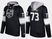 Wholesale Cheap Kings #73 Tyler Toffoli Black Name And Number Hoodie