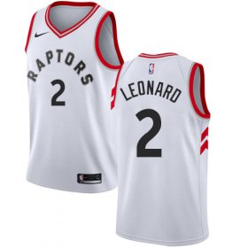 Wholesale Cheap Women\'s Nike Toronto Raptors #2 Kawhi Leonard White NBA Swingman Association Edition Jersey