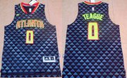 Wholesale Cheap Men's Atlanta Hawks #0 Jeff Teague Revolution 30 Swingman 2015-16 New Black Jersey