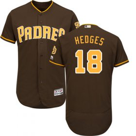 Wholesale Cheap Padres #18 Austin Hedges Brown Flexbase Authentic Collection Stitched MLB Jersey