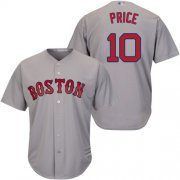 Wholesale Cheap Red Sox #10 David Price Grey Cool Base Stitched Youth MLB Jersey