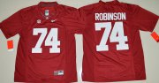 Wholesale Cheap Men's Alabama Crimson Tide #74 Cam Robinson Red Limited Stitched College Football Nike NCAA Jersey