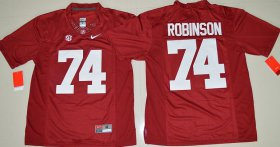 Wholesale Cheap Men\'s Alabama Crimson Tide #74 Cam Robinson Red Limited Stitched College Football Nike NCAA Jersey