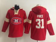 Wholesale Cheap Montreal Canadiens #31 Carey Price Red Pullover NHL Hoodie