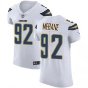 Wholesale Cheap Nike Chargers #92 Brandon Mebane White Men's Stitched NFL Vapor Untouchable Elite Jersey