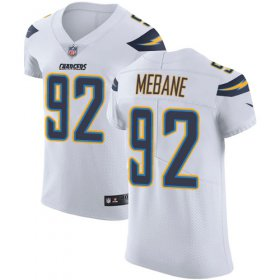 Wholesale Cheap Nike Chargers #92 Brandon Mebane White Men\'s Stitched NFL Vapor Untouchable Elite Jersey