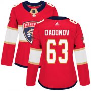 Wholesale Cheap Adidas Panthers #63 Evgenii Dadonov Red Home Authentic Women's Stitched NHL Jersey