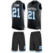Wholesale Cheap Nike Panthers #21 Jeremy Chinn Black Team Color Men's Stitched NFL Limited Tank Top Suit Jersey