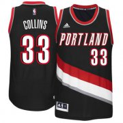 Wholesale Cheap Men's Portland Trail Blazers #33 Zach Collins adidas Black 2017 NBA Draft Pick Replica Jersey